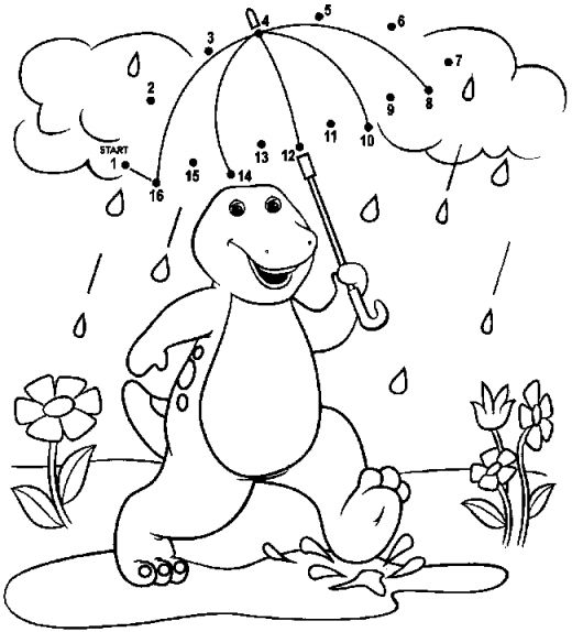 520x574 Barney Coloring Pages To Print Collection Of Solutions Barney