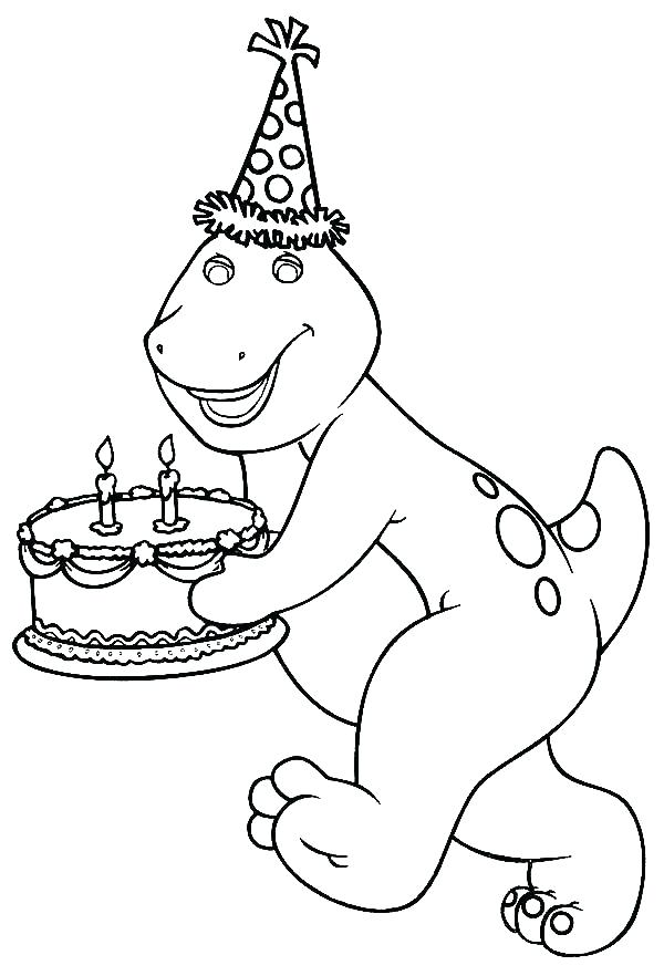 600x882 Barney Coloring Pages