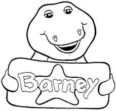 229x220 Printable Barney Pictures Barney Coloring Pages Free Printable