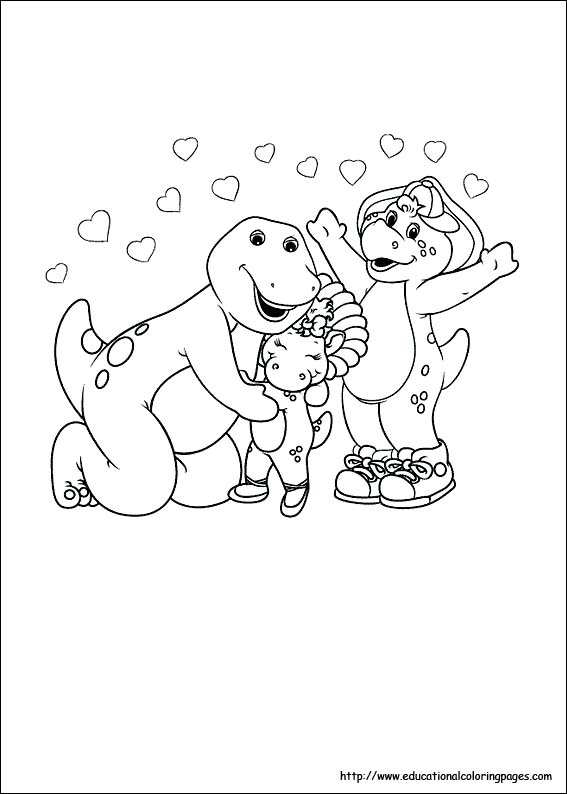 567x794 Barney Coloring Pages