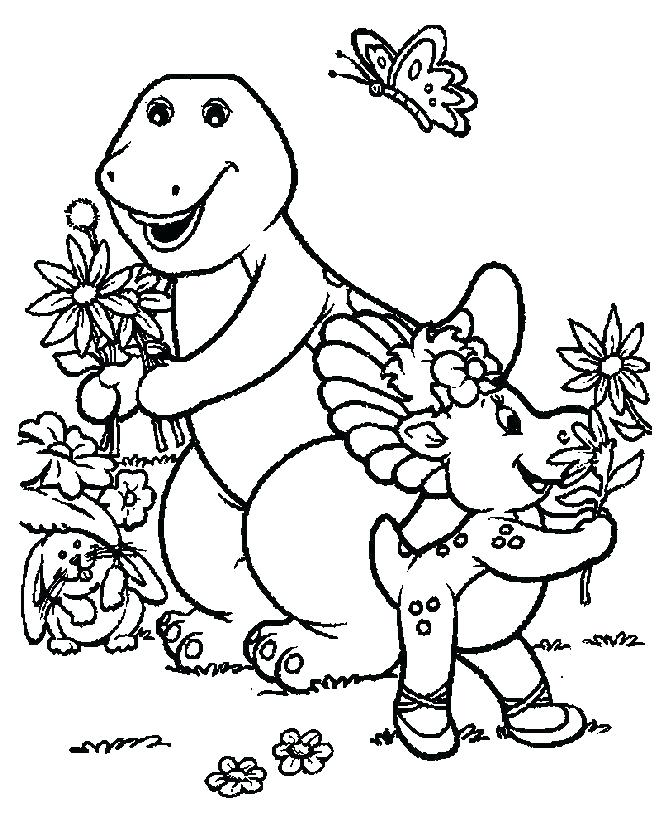 670x820 Barney Coloring Pages Cards And Baby Bop Barne