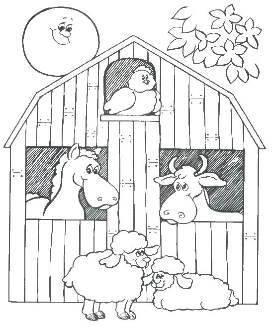 549x659 Farm Animals Colouring Farm Animal Coloring Pages Attractive