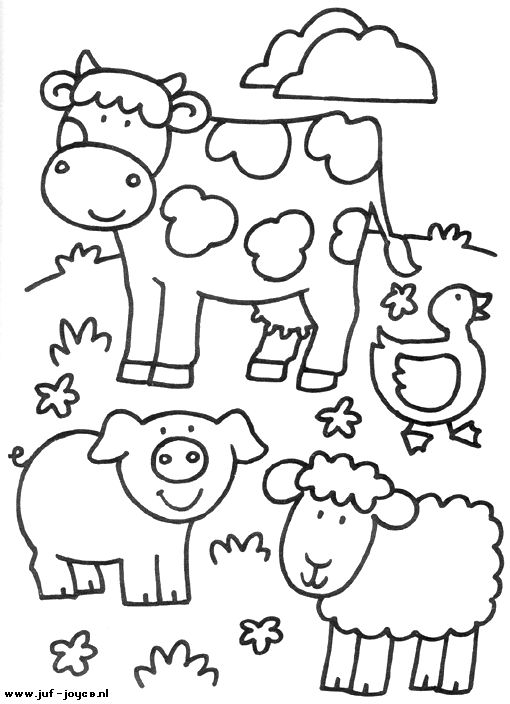 510x704 Farm Animals Colouring Pages Farm Animals Coloring Pages Printable
