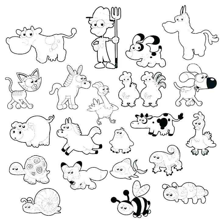 736x734 Baby Farm Animals Coloring Pages Baby Animals Coloring Pages Baby