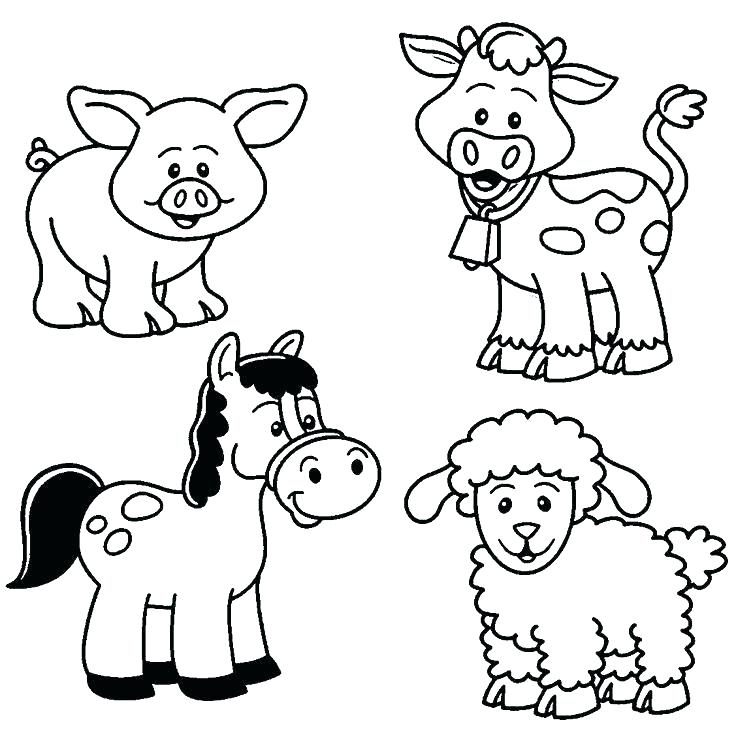736x735 Wildlife Coloring Pages Farm Animals Coloring Pages Printable Farm