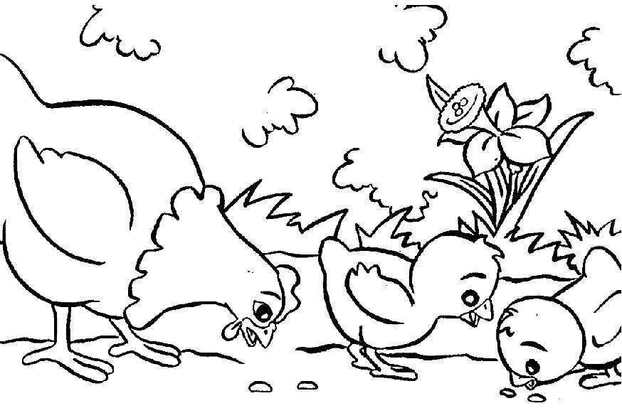 874x581 Coloring Pages For Kids Animals Free Coloring Pages Farm Animals