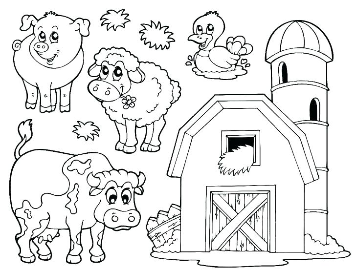 728x553 Barnyard Coloring Pages Coloring Pictures Of Farm Animals Animal