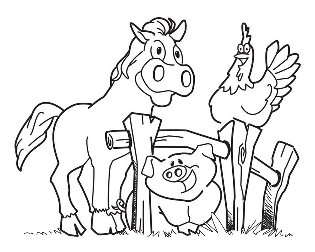 1048x841 Barnyard Coloring Pages Free Printable Farm Sheets Picturesque Acpra