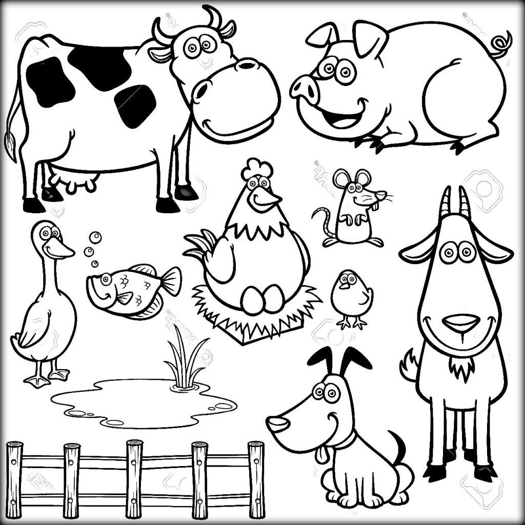 1024x1024 Coloring Pages Barnyard Animals