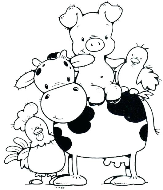530x620 Farm Animals Colouring Baby Farm Animals Coloring Pages Farm