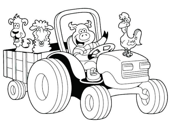 728x546 Farm Color Pages Farm Animals Coloring Pages For Kids Printable Co