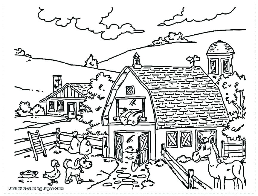 863x656 Free Farm Coloring Pages Farm Animal Coloring Pages Barnyard