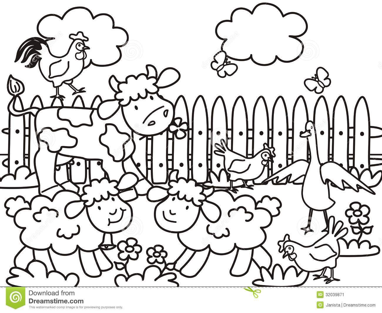 1300x1065 Inspiring Coloring Pages For Kids Farm Animals Printable Pict