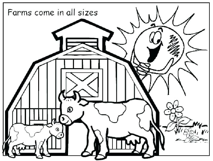 714x541 Barn Coloring Pages Barn Coloring Sheet Printable Barn Coloring