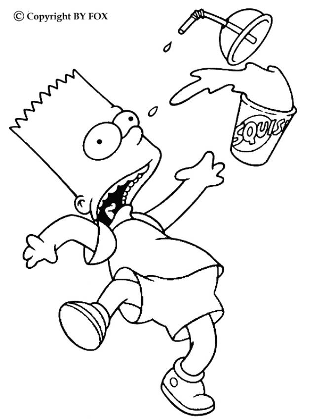 638x850 Bart And His Drink Coloring Pages