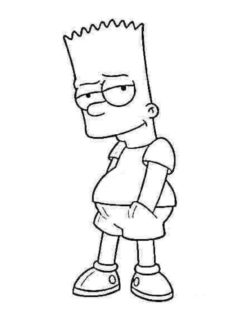 780x1024 Free Simpsons Coloring Pages Com Bart Ripping Simpson
