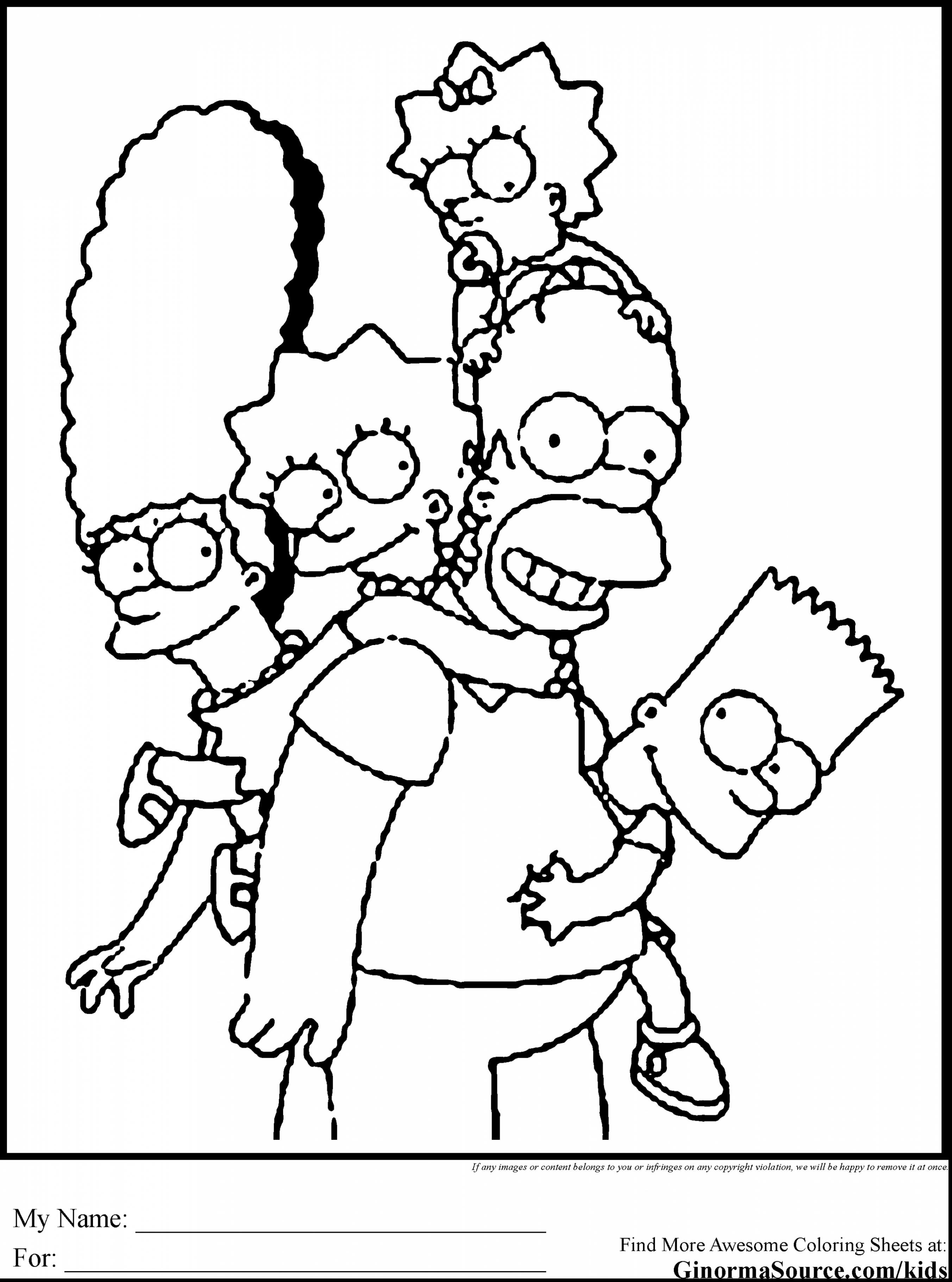 2704x3641 Astonishing Bart Simpson Coloring Pages With The Simpsons Amazing