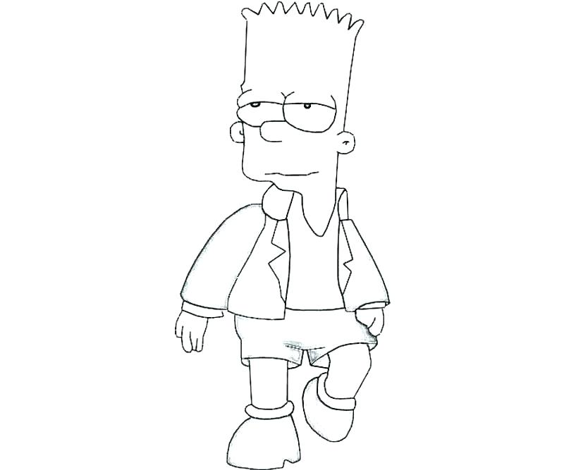 800x667 Simpson Coloring Pages Coloring Pages Bart Simpson Skateboard