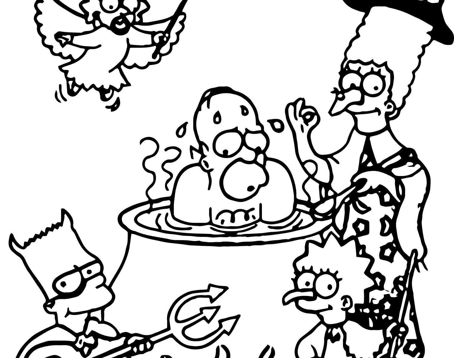 1522x1200 Simpson Coloring Pages Many Interesting Simpsons Printable General