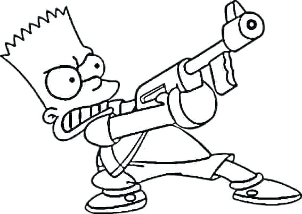 1024x727 Simpsons Coloring Pages Coloring Pages Bart Simpson Coloring Pages
