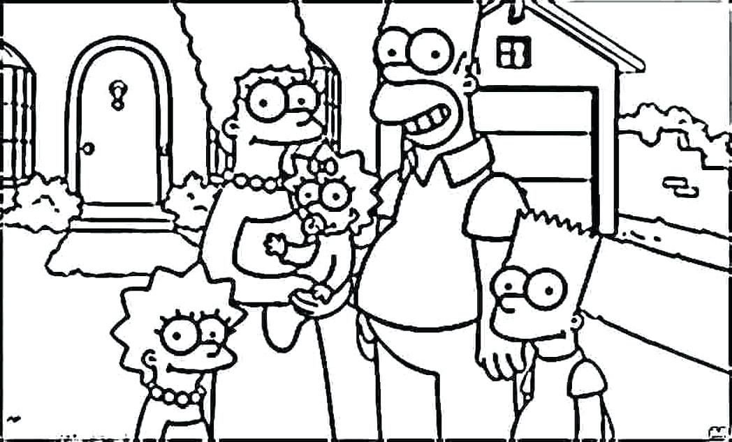 1048x634 Simpsons Coloring Pages Homer And Marge Coloring Pages A Coloring