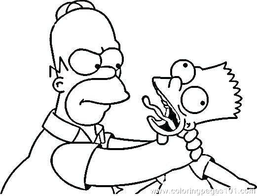521x397 Simpsons Coloring Pages Stunning The Ring Pages Print Page To Bart