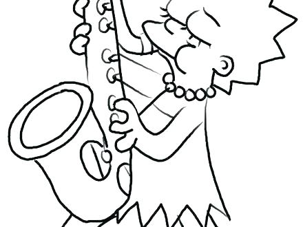 440x330 Bart Simpson Coloring Pages