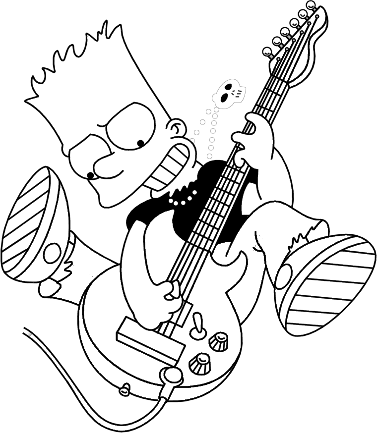 760x874 The Simpsons Coloring Pages Bart Simpson Coloring Pages Cool