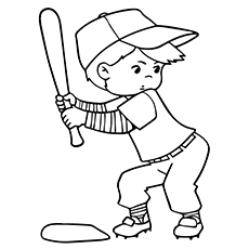 230x230 Top Baseball Coloring Pages For Toddlers