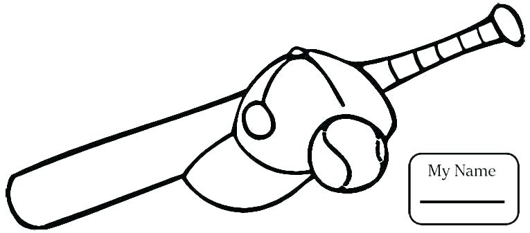 765x337 Baseball Bat Coloring Pages Printable All Bat Coloring Pages Page