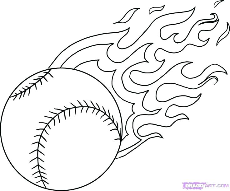 736x614 Christmas Ball Colouring Pages Kids Coloring Baseball Glove