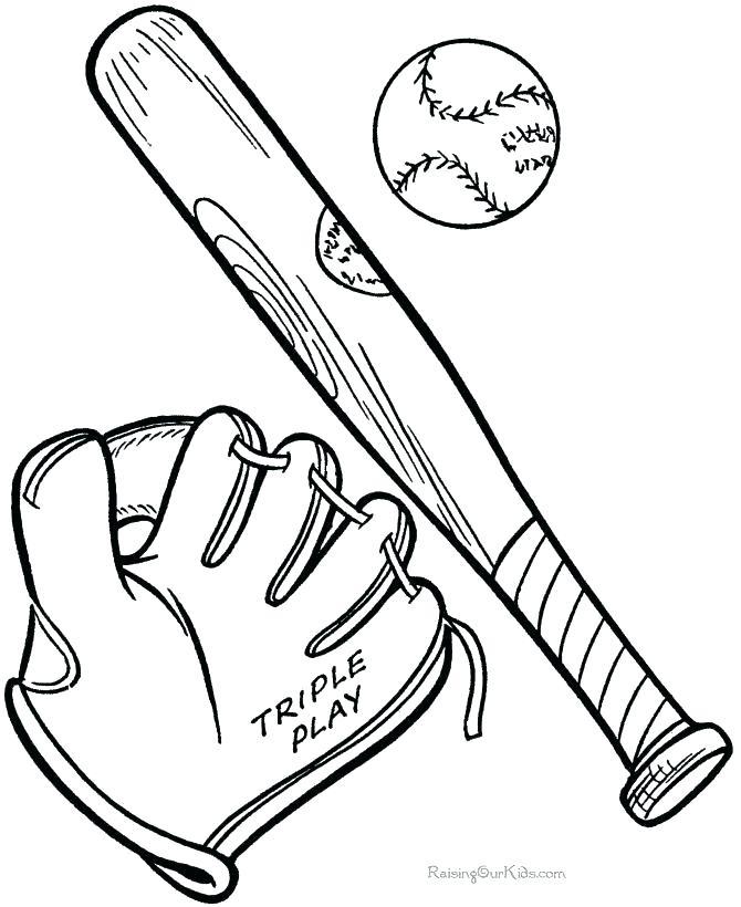 670x820 Baseball Bat Coloring Page Pin Printable Pages Base Murs