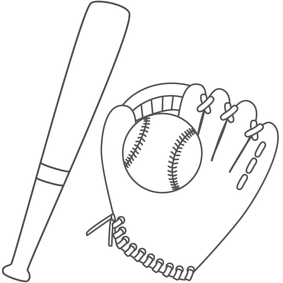 1200x1200 Baseball Bat Coloring Pages