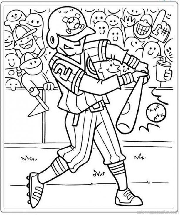 Baseball Batter Coloring Pages