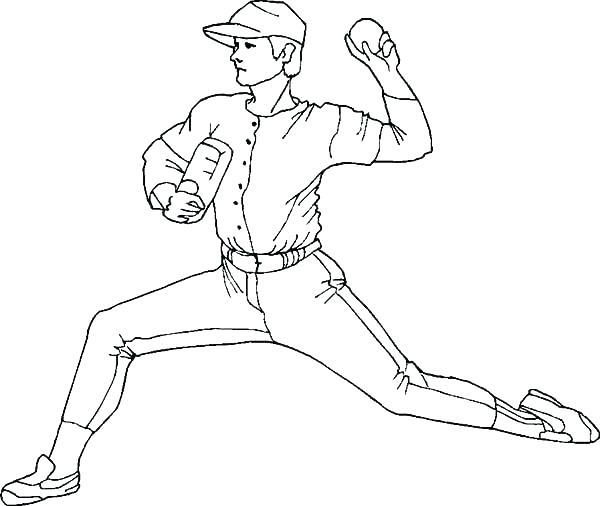 Baseball Batter Coloring Pages At Getdrawings Com Free For