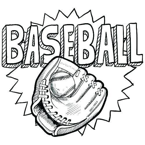500x500 Baseball Pictures To Color Baseball Coloring Sheets Baseball