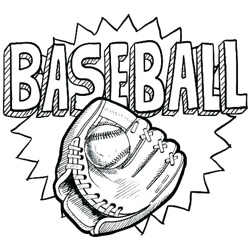 500x500 Sports Coloring Sheet Sports Coloring Pages Coloring Baseball