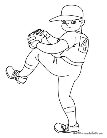 364x470 Baseball Coloring Pages