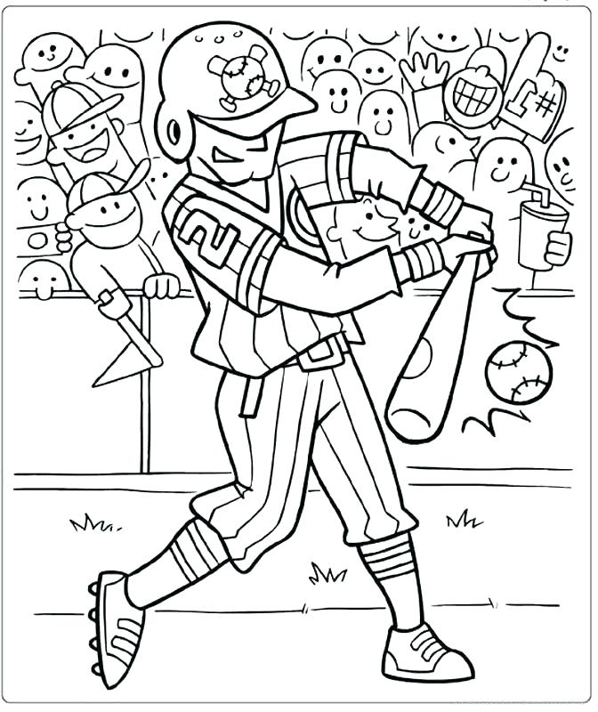 672x800 Baseball Team Coloring Pages