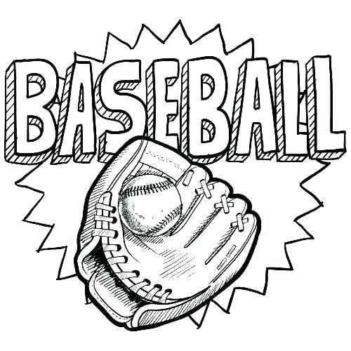 Baseball Coloring Pages For Kids At Getdrawings Com Free For