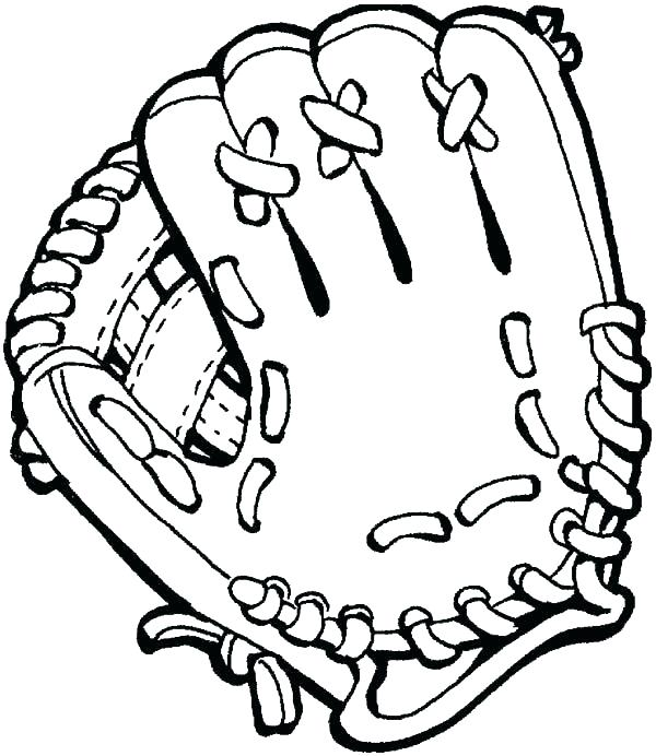 600x692 Coloring Pages Of Baseball Coloring Pages Baseball Boxing Gloves