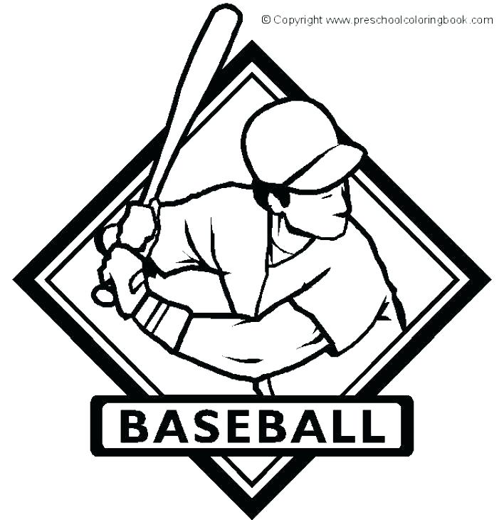 708x730 Baseball Coloring Pages