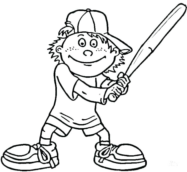 750x690 Baseball Team Coloring Pages Deepart