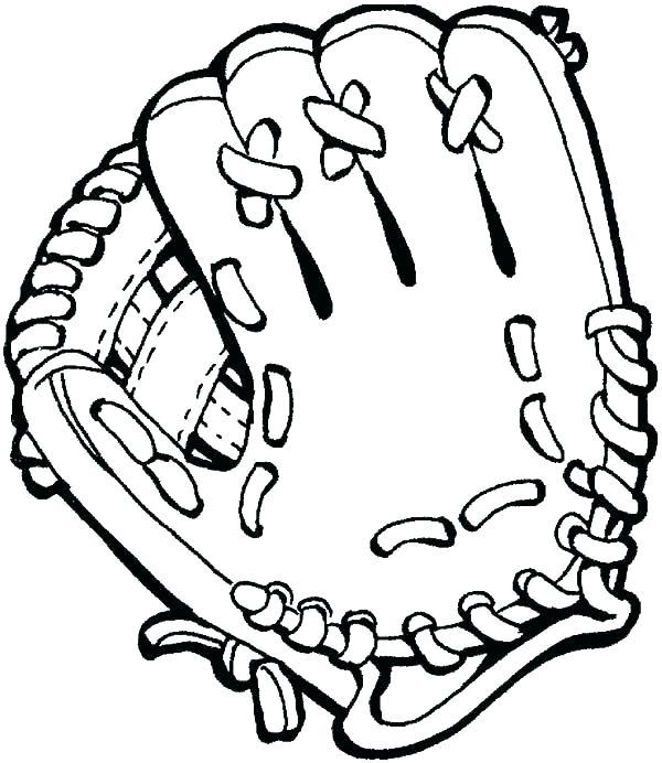 600x692 Baseball Coloring Page Coloring Pages Baseball Boxing Gloves