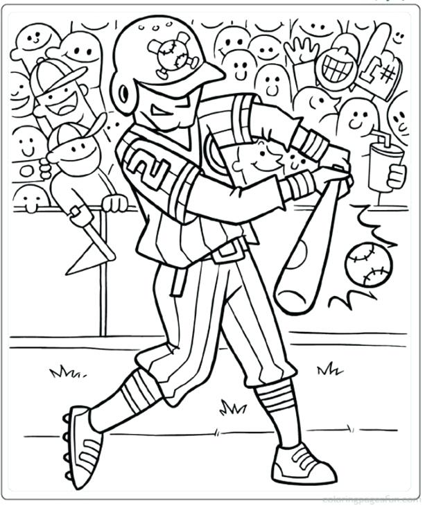613x730 Baseball Coloring Pages A Hitter In Baseball Coloring Page Mlb