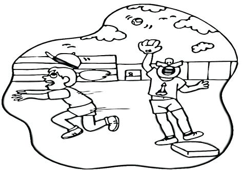 476x333 Football Field Coloring Pages Baseball Diamond Field Coloring