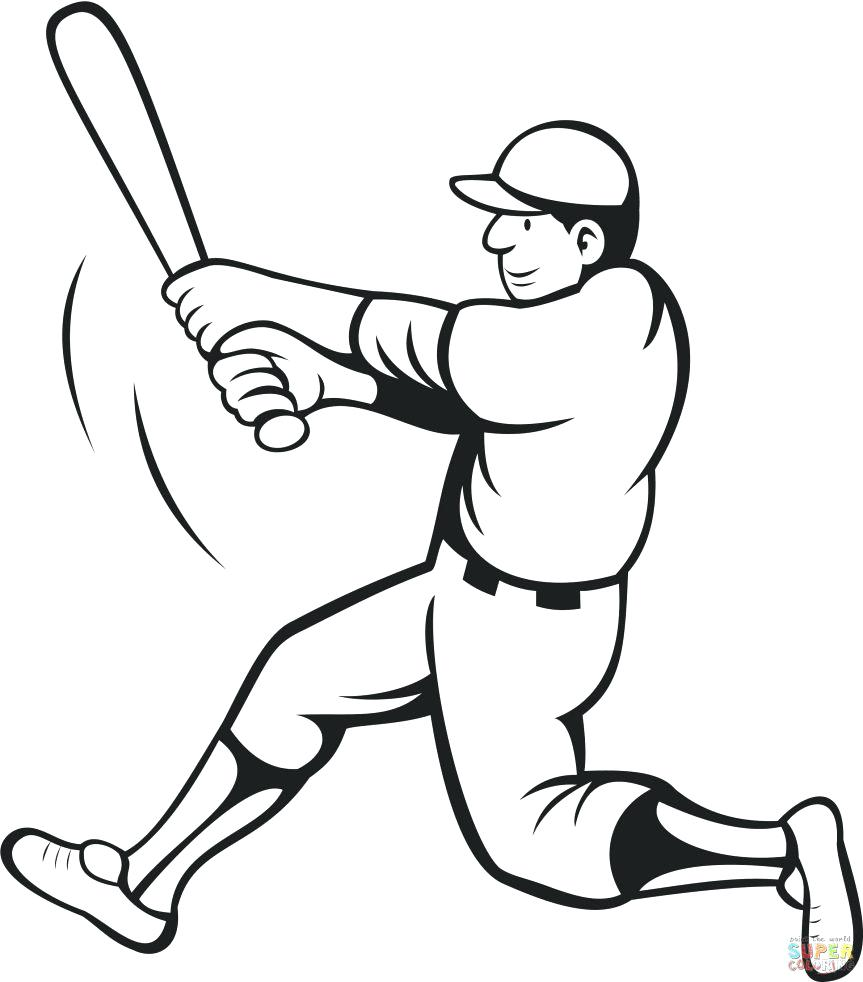 863x982 Nice Baseball Field Coloring Pages Printable