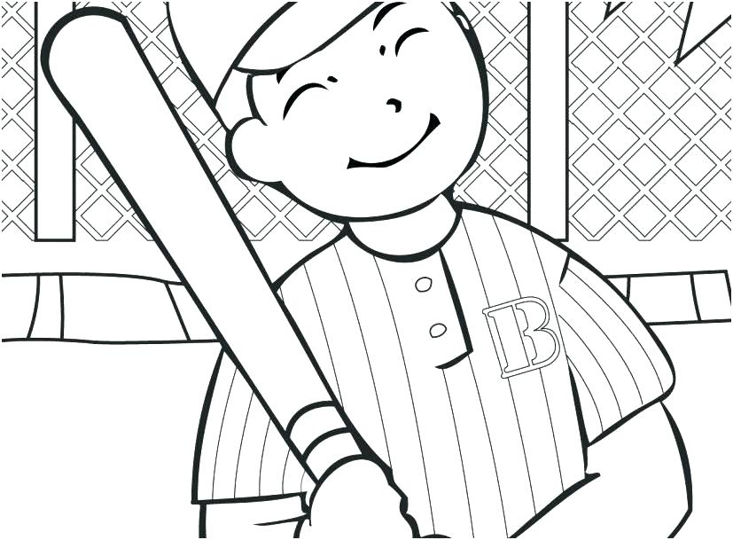 827x609 Baseball Coloring Page Baseball Player Coloring Page Printable