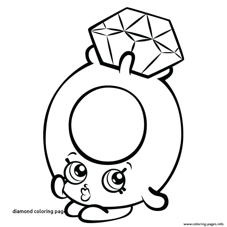 736x736 Diamond Coloring Page