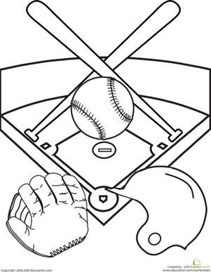 301x388 Baseball Field Coloring Pages